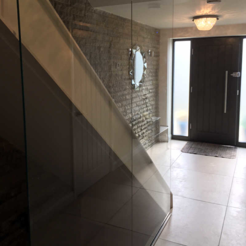 Glass sided stairwell
